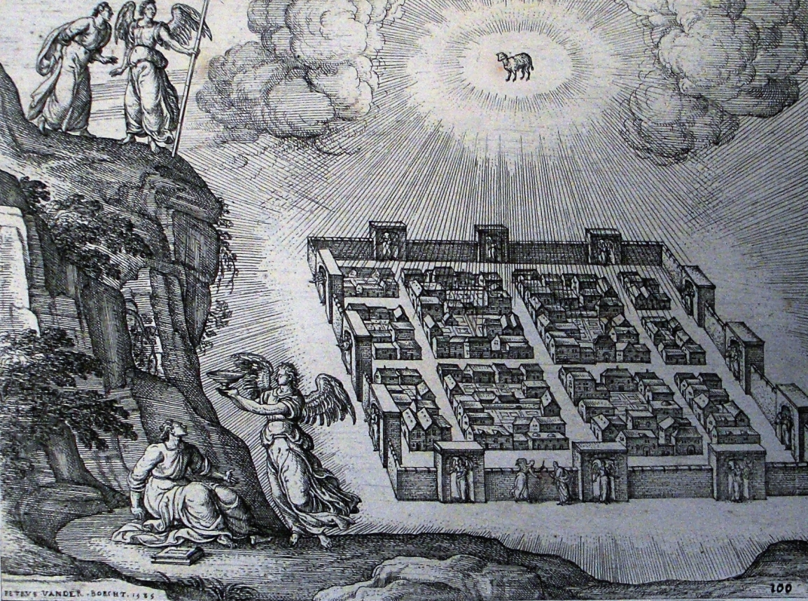Apocalypse_42._A_new_heaven_and_new_earth._Revelation_21_v_29._Borcht._Phillip_Medhurst_Collection
